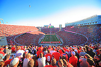 The Ohio State University football team defeats Indiana 38-17. October 8, 2016<br />