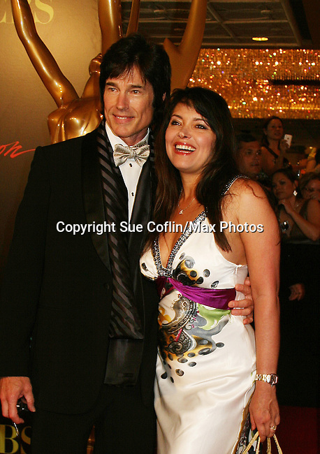 Ronn Moss and wife Devon - Red Carpet - 37th Annual Daytime Emmy Awards on June 27, 2010 at Las Vegas Hilton, Las Vegas, Nevada, USA. (Photo by Sue Coflin/Max Photos)