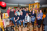 A surprise 50th birthday gathering was held in The Waterville Inn on Thursday last for Robbie O'Mahony seated front centre from Waterville, pictured here with family and friends.