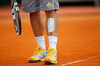 L'infortunio di Fabio Fognini, Monte - Carlo, Monaco 20/4/2013 .Monte - Carlo Rolex Masters, Tennis, Atp World Tour.Tennis.Foto Marco Bertorello Insidefoto
