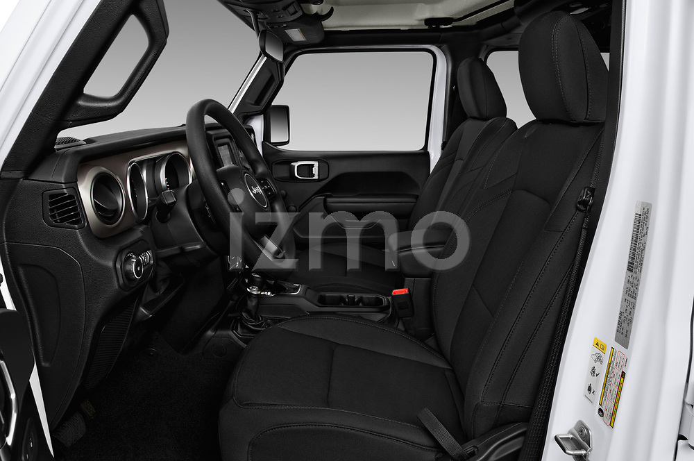 Front seat view of a 2020 Jeep Wrangler Unlimited Sport S 5 Door SUV front seat car photos