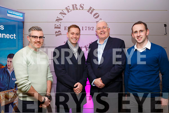 Attending the Founder Friday inititive by Bank of Ireland and IT Tralee in Benners Hotel on Friday evening last, l-r, Shane O'Connor, Joey O'Connor, Frank Shaw and Stephen Pierce.