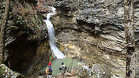 NWA Democrat-Gazette file/FLIP PUTTHOFF<br /> Eden Falls spills over cliffs at Lost Valley near the Buffalo National River. Ample rain had waterfalls running full during a hike on Nov. 30, 2015.