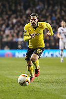 Gonzalo Castro of Borussia Dortmund during the UEFA Europa League match between Tottenham Hotspur and Borussia Dortmund at White Hart Lane, London, England on 17 March 2016. Photo by David Horn / PRiME Media Images