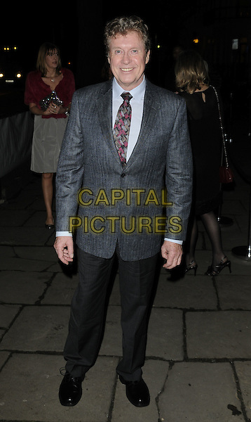 "MICHAEL CRAWFORD.After show party for ""The Wizard Of Oz"" press night, One Marylebone, London, England..March 1st, 2011.full length black blue grey gray suit.CAP/CAN.©Can Nguyen/Capital Pictures."