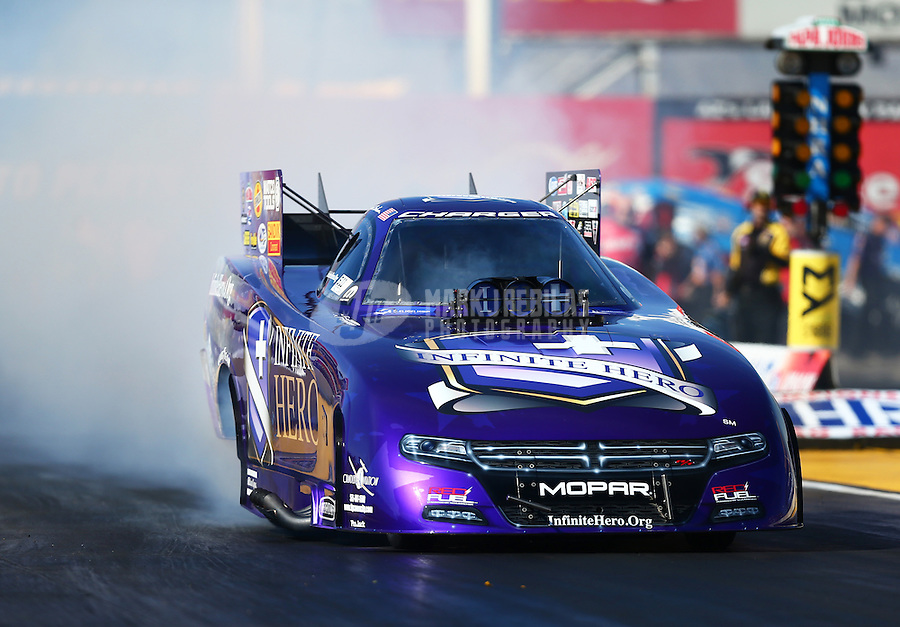 Feb 24, 2017; Chandler, AZ, USA; NHRA funny car driver Jack Beckman during qualifying for the Arizona Nationals at Wild Horse Pass Motorsports Park. Mandatory Credit: Mark J. Rebilas-USA TODAY Sports