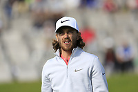 Tommy Fleetwood (ENG) on the 13th green during Thursday's Round 1 of the 2017 Omega European Masters held at Golf Club Crans-Sur-Sierre, Crans Montana, Switzerland. 7th September 2017.<br /> Picture: Eoin Clarke | Golffile<br /> <br /> <br /> All photos usage must carry mandatory copyright credit (&copy; Golffile | Eoin Clarke)