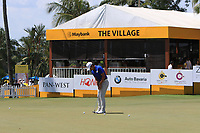 Soomin Lee (KOR) on the putting green after Round 3 of the Maybank Championship at the Saujana Golf and Country Club in Kuala Lumpur on Saturday 3rd February 2018.<br /> Picture:  Thos Caffrey / www.golffile.ie<br /> <br /> All photo usage must carry mandatory copyright credit (© Golffile | Thos Caffrey)