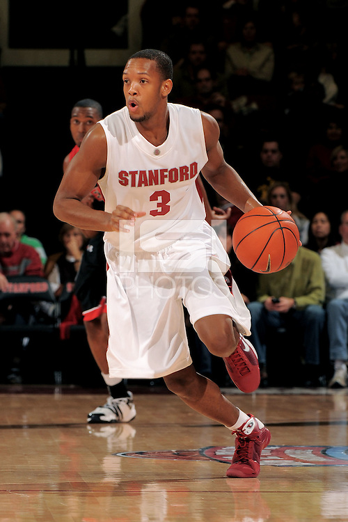 Stanford, CA - DECEMBER 28:  Guard Jarrett Mann #3 of the Stanford Cardinal during Stanford's 111-66 win against the Texas Tech Red Raiders on December 28, 2008 at Maples Pavilion in Stanford, California.