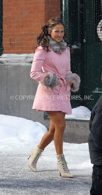 Jennifer Lopez filming her new music video in TriBeca, New York. November 20, 2002. Please byline: Alecsey Boldeskul/NY Photo Press.   ..*PAY-PER-USE*      ....NY Photo Press:  ..phone (646) 267-6913;   ..e-mail: info@nyphotopress.com
