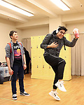 "Will Roland and George Salazar during the ""Be More Chill"" Press Preview Presentation at Pearl Studios on January 23, 2019 in New York City."