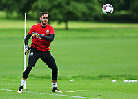 Daniel Ward in action during the Wales Training Session at the Vale Resort, Hensol, Wales, UK. Tuesday 29 August 2017