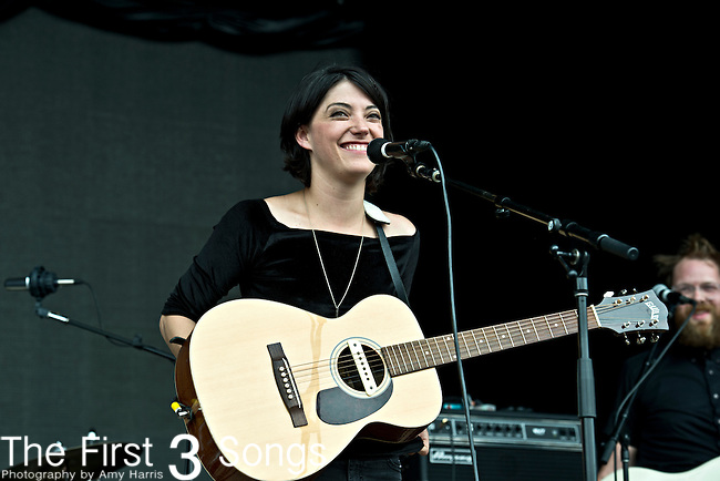 Sharon Van Etten performs during the Forecastle Music Festival at Waterfront Park in Louisville, Kentucky.