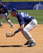 April 1, 2004:  First baseman Jason Grabowski of the Los Angeles Dodgers organization during Spring Training at Space Coast Stadium in Melbourne, FL.  Photo copyright Mike Janes/Four Seam Images