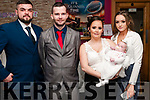 Baby Ellyza Mai with her mother Nicole Fenlon, Ballylongford and god parents Jake Lavery, Scot Fenlon & Niamh McCormack who was chrietened in Ballylongford church by Fr. Kennelly on Saturday last and afterwards at Christy;s Bar, Listowel.