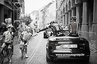 John Degenkolb (DEU/Giant-Alpecin) handing out a balloon to a local young rider during the parade<br /> <br /> Post-Tour Criterium Mechelen (Belgium) 2016