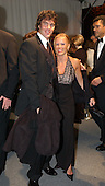 """The Bachelor"" stars Ryan Sutter, left, and Trista Rehn, right, arrive for the  party hosted by Bloomberg News following the 2003 White House Correspondents Dinner in Washington, DC on April 26, 2003..Credit: Ron Sachs / CNP"