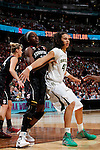 01 APRIL 2012:  Brittney Griner (42) of Baylor University posts up against Chiney Ogwumike (13) of Stanford University during the Division I Women's Final Four semifinals at the Pepsi Center in Denver, CO.  Baylor defeated Stanford 59-47 to advance to the championship final.  Jamie Schwaberow/NCAA Photos