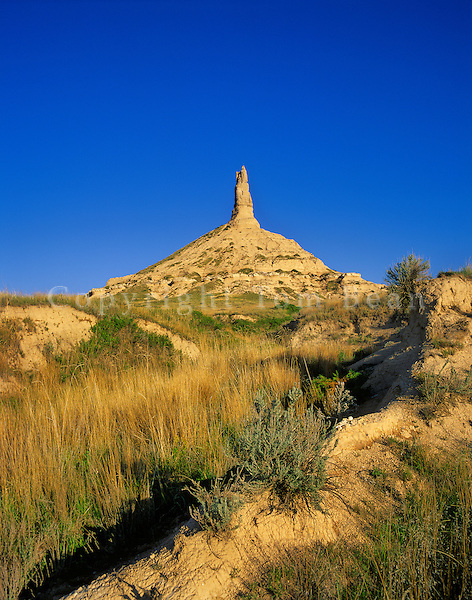 Chimney Rock National Historic Site a landmark on Oregon Trail, near Bayard, Nebraska, AGPix_0377.