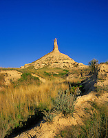 Chimney Rock National Historic Site a landmark on Oregon Trail, near Bayard, Nebraska, AGPix_0377.