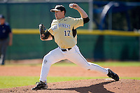 Starting pitcher Garrett Bullock #17 of the Wake Forest Demon Deacons in action versus the Duke Blue Devils at Jack Coombs Field March 29, 2009 in Durham, North Carolina. (Photo by Brian Westerholt / Four Seam Images)