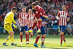 Atletico de Madrid's Koke Resurrecccion, Antoine Griezmann, Saul Niguez and Fernando Torres celebrating a goal BBVA La Liga match. April 02,2016. (ALTERPHOTOS/Borja B.Hojas)