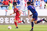 Sayed Redha Isa of Bahrain runs with the ball during the AFC Asian Cup UAE 2019 Group A match between Bahrain (BHR) and Thailand (THA) at Al Maktoum Stadium on 10 January 2019 in Dubai, United Arab Emirates. Photo by Marcio Rodrigo Machado / Power Sport Images