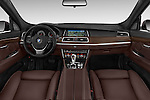 Stock photo of straight dashboard view of a 2015 BMW 5 Series 535I Luxury 5 Door Hatchback 2WD Dashboard