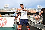 12 June 2013: Chivas USA's Josue Soto. The North American Soccer League's Carolina RailHawks hosted Major League Soccer's CD Chivas USA at WakeMed Stadium in Cary, NC in a 2013 Lamar Hunt U.S. Open Cup fourth round game. Carolina won the game 3-1 after extra time.