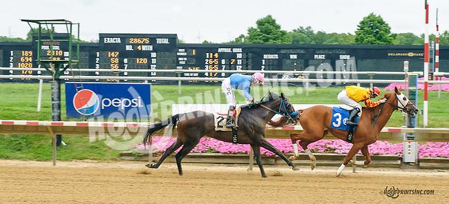 Ira winning at Delaware Park on 8/9/15