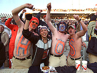 UVa fans at Scott Stadium in Charlottesville, Va.