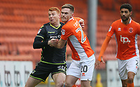 Bristol Rovers' Rory Gaffney battles with Blackpool's Oliver Turton<br /> <br /> Photographer Stephen White/CameraSport<br /> <br /> The EFL Sky Bet League One - Blackpool v Bristol Rovers - Saturday 13th January 2018 - Bloomfield Road - Blackpool<br /> <br /> World Copyright &copy; 2018 CameraSport. All rights reserved. 43 Linden Ave. Countesthorpe. Leicester. England. LE8 5PG - Tel: +44 (0) 116 277 4147 - admin@camerasport.com - www.camerasport.com
