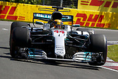 June 11th 2017, Circuit Gilles Villeneuve, Montreal Quebec, Canada; Formula One Grand Prix, Race Day. #44 Lewis Hamilton (GBR, Mercedes AMG Petronas F1 Team), on his way to winning the race