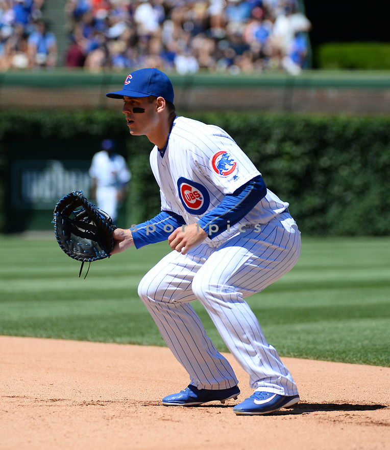 Chicago Cubs Anthony Rizzo (44) during a game against the Pittsburgh Pirates on June 17, 2016 at Wrigley Field in Chicago, IL. The Cubs beat the Pirates 6-0.