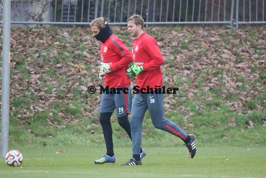 Timo Hildebrand und Felix Wiedwald (Eintracht) - Eintracht Frankfurt Training, Commerzbank Arena