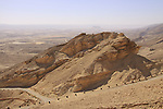 "Israel, Negev, the ""Frog Rock"" at Akrabim ascent.."