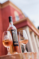 Europe/France/Provence-Alpes-Côte d'Azur/Alpes-Maritimes/Nice: Vignoble de Bellet,  Domaine de Toasc, Dégustation AOP Bellet rosé // /   Europe, France, Provence-Alpes-Côte d'Azur, Alpes-Maritimes, Nice: Bellet vineyards, Domain Toasc, AOC Bellet rosé tasting