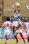 Rehan Rumesh Silva Chakrawarthige of Sri Lanka in action during the match between Sri Lanka and Chinese Taipei of the Asia Rugby U20 Sevens Series 2016 on 12 August 2016 at the King's Park, in Hong Kong, China. Photo by Marcio Machado / Power Sport Images