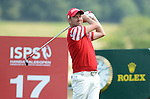 Wale's Liam BOND in action during todays round<br /> <br /> Golf - Day 2 - ISPS Handa Wales Open 2013 - Twenty Ten Course- Friday 30th August 2013 - Celtic Manor Resort  - Newport<br /> <br /> &copy; www.sportingwales.com- PLEASE CREDIT IAN COOK