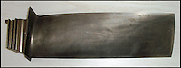 BNPS.co.uk (01202 558833)<br /> Pic: ChaucerAuctions/BNPS<br /> <br /> ***Please Use Full Byline***<br /> <br /> FYI: The Concorde Engine Blade.<br /> <br /> Legendary airline pilot Mike Bannister is selling 100,000 pounds worth of his Concorde memorabilia so he can fund his daughter through flying school.<br /> <br /> Amy Bannister, 20, is hoping to following in her father's jet-stream to become a commercial airline pilot and is currently at a flight training school in Spain.<br /> <br /> The prestigious course is costing her a six figure sum.<br /> <br /> Her father Mike, 65, didn't want her burdened with debt at the start of her career and so stripped his study of Concorde relics, including cockpit instruments, and has put them up for sale at auction.