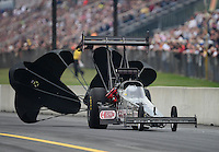Oct. 6, 2012; Mohnton, PA, USA: NHRA top fuel dragster driver Bob Vandergriff Jr during qualifying for the Auto Plus Nationals at Maple Grove Raceway. Mandatory Credit: Mark J. Rebilas-