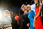 Republican presidential candidate Mitt Romney and his wife Ann Romney on the final night of Republican National Convention in Tampa, Florida, August 30, 2012.