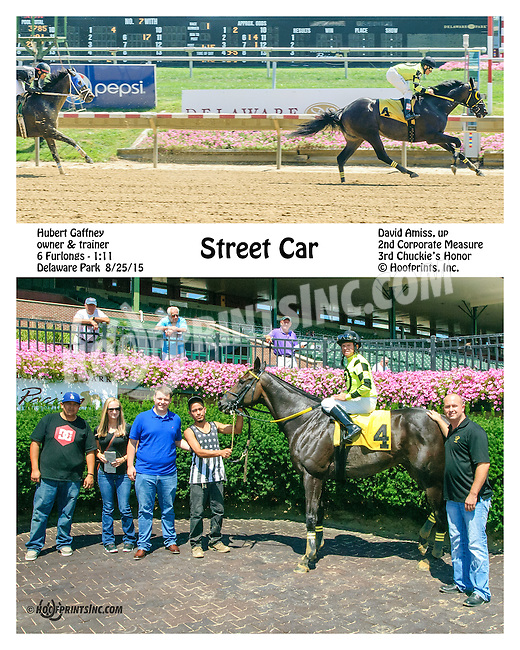 Street Car winning at Delaware Park on 8/25/15
