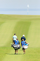 Ryan Evans (ENG) and Charlie Ford (ENG) on 11th hole during the third round of the NBO Open played at Al Mouj Golf, Muscat, Sultanate of Oman. <br /> 17/02/2018.<br /> Picture: Golffile | Phil Inglis<br /> <br /> <br /> All photo usage must carry mandatory copyright credit (&copy; Golffile | Phil Inglis)
