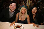 OLTL's Ilene Kristen with Project Runway's Malan and Victorya at 22nd Annual Broadway Flea Market & Grand Auction to benefit Broadway Cares/Equity Fights Aids on Sunday, September 21, 2008 in Shubert Alley, New York City, New York. (Photo by Sue Coflin/Max Photos)