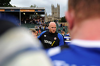 Matt Garvey of Bath Rugby speaks to his team-mates after the match. Gallagher Premiership match, between Bath Rugby and Gloucester Rugby on September 8, 2018 at the Recreation Ground in Bath, England. Photo by: Patrick Khachfe / Onside Images