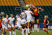 Rochester, NY - Saturday July 23, 2016: Western New York Flash defender Courtney Niemiec (23), FC Kansas City midfielder Lo'eau LaBonta (1) during a regular season National Women's Soccer League (NWSL) match between the Western New York Flash and FC Kansas City at Rochester Rhinos Stadium.