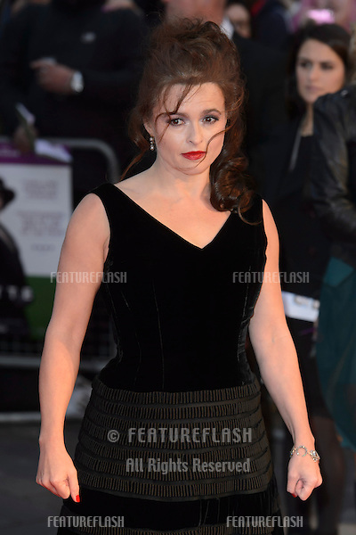 Helena Bonham Carter at the BFI London Film Festival premiere of &quot;Suffragette&quot; at the Odeon Leicester Square, London.<br /> October 7, 2015  London, UK<br /> Picture: Dave Norton / Featureflash