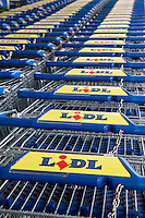 Lidl supermarket trolleys