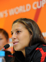 Carli Lloyd of team USA at a press conference during the FIFA Women's World Cup at FIFA Stadium in Dresden, Germany on July 9th, 2011.